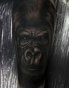 Discover the largest living primate among the forest with these top 100 best gorilla tattoo designs for men. Knuckle walk your way to manly great ape ideas.