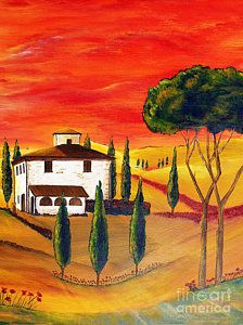 Painting - Heat Of Tuscany by Christine Huwer
