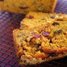The spices and flavor of pumpkin blended with dried cranberries and chopped walnuts create a moist and delicious seasonal bread.