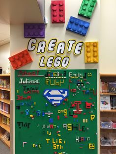 Put a Lego wall in your makerspace, library, or media center! Plus thoughts from a principal on his school& makerspace School Library Design, Elementary School Library, Classroom Design, Classroom Decor, Elementary Schools, Library Ideas, Children's Library, Elementary Library Decorations, School Library Displays