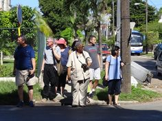 U.S. Baptist group touring Havana. Photo taken by Brian Kaylor during a trip for the COEBAC's 40th anniversary celebration at Iglesia Bautista Enmanuel (Emmanuel Baptist Church) in Ciego de Ávila, Cuba.