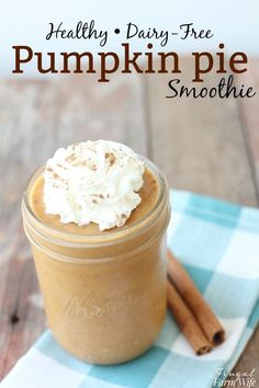 looking for a fall-flavored treat to tickle your taste buds? This Healthy Pumpkin pie smoothie is so delicious, you won't believe it takes less than two minutes to make!