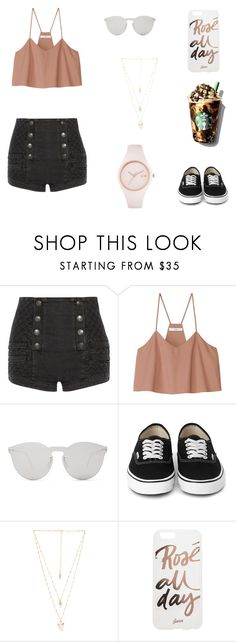"""Going on a date with ?"" by melanierosec-1 on Polyvore featuring Pierre Balmain, TIBI, Illesteva, Natalie B, Sonix and Ice-Watch"