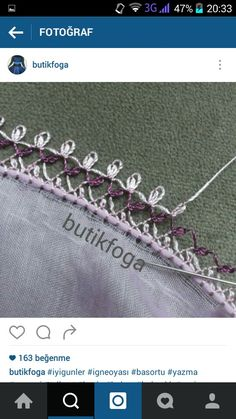 This Pin was discovered by Şey Needlework, Diy And Crafts, Embroidery, Stitch, Silver, Handmade, Jewelry, Embroidery Thread, Lace