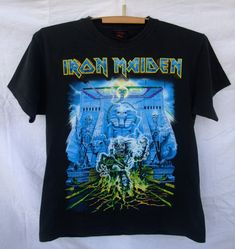 333adc3ec0e Iron Maiden Somewhere Back in Time world tour 2008 T-Shirt rare vintage  men s Medium heavy metal Judas Priest Saxon Metallica Guns N Roses