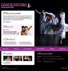 Dance Studio Flash Templates by Di Flash Templates, Dance Studio, Website Template, Education, Grief, Training, Learning
