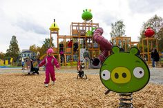 Angry Birds playground Rovaniemi, Finland - the birthplace of Angry Birds