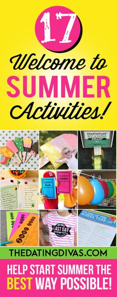 My kids are going to LOVE these summer activities from The Dating Divas!