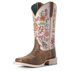 Women's Circuit Savanna Western Boots in Diamondback Tan Leather, Size 7 B / Medium by Ariat Cowboy Boots Women, Western Boots, Cowgirl Boots Ariat, Tan Leather, Leather Boots, Distressed Leather, Wedding Boots, Bride Shoes, Baby Boots