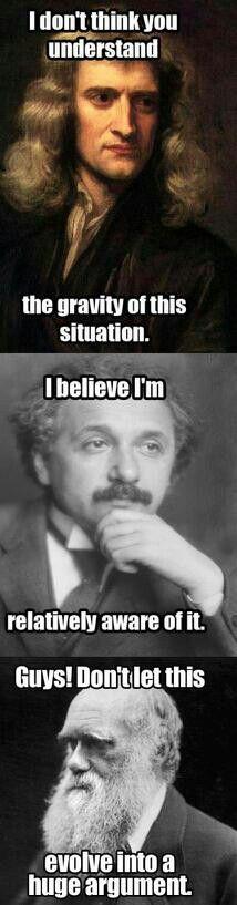 Newton, Einstein, Darwin