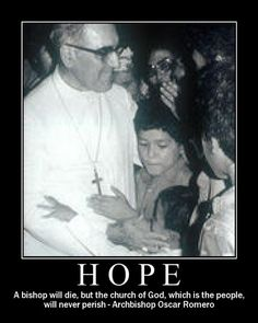 """""""In the name of God, in the name of this suffering people whose cry rises to heaven more loudly each day, I implore you, I beg you, I order you: stop the repression."""" -Holy Martyr Archbishop Oscar Romero of El Salvador, one day before his assassination."""