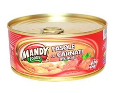 Fasole cu Cârnaţi Afumaţi - Conservă easy-open, 300 g Ben And Jerrys Ice Cream, Coffee Cans, Canning, Easy, Desserts, Foods, Tailgate Desserts, Food Food, Deserts