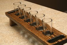 Shooter shot glass set holder carrier Tequila Whiskey by KMGstore