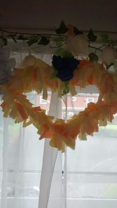 Orange rag wreath