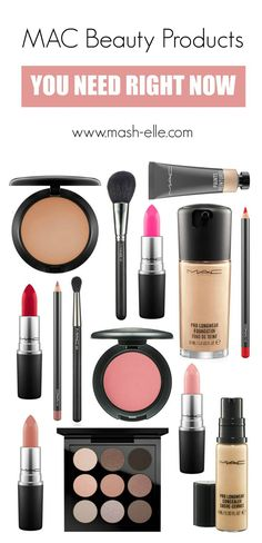 A roundup of the BEST of the BEST Mac Makeup products!   Beauty blogger Mash Elle rounds up her favorite MAC products for oily and sensitive skin from foundation to concealer, eyeshadow, lipstick and bronzers! Perfect for Christmas and birthday gifts for loved ones!