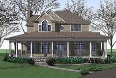 Plan W16805WG: Traditional, Farmhouse, Country, Photo Gallery House Plans & Home Designs
