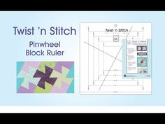Twister Template Demonstrated at Sunshine Sewing & Quilting - YouTube