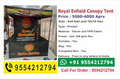 Canopy Tent - Printtrade Canopy Tent, Royal Enfield, Marketing