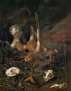 Leonor Fini - Sphinx Philagrial (1945): Neo Surrealism, Philagri 1945, Surrealism.