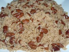 Easy Rice and BeansIngredients     * 4 teaspoons of oil (20 ml)      * 1 to 2 cups of red beans     * (depending on whether you like a lot of beans or not)     * 1 small onion chopped     * 1 chicken bouillon cube     * 1 clove of garlic     * 1 leek     * 2 cups of white rice     * 4 cups of water (960 ml)     * 2 teaspoons of salt     * (add more if needed. Taste the water and see if it's salty enough.)     * 2Tablespoon of tomato paste (30 ml)     * Parsley and Thyme, take a few sprigs…