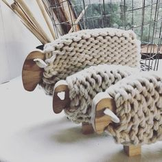This ewe and her lambs are heading to the Hay Ag and Pastoral Innovation Expo tomorrow with I have been so thankful for… Sheep Crafts, Yarn Crafts, Wood Crafts, Diy And Crafts, Arts And Crafts, Crochet Crafts, Wood Projects, Craft Projects, Sheep Art