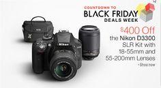 $400 Off the Nikon D3300 SLR Kit