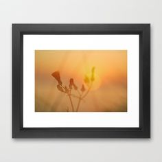the sun goes down Framed Art Print by Guido Montañés - $37.00