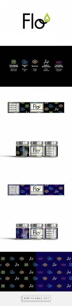 Flo logo and packaging for deodorant cremes made by Florina Popović.