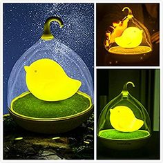 Birdcage Lamp Baby Nursery Birdcage LED Night Light Touch Sensor Dimmable Lamp for Bedroom Living Room Decoration yellow >>> Want to know more, click on the image.