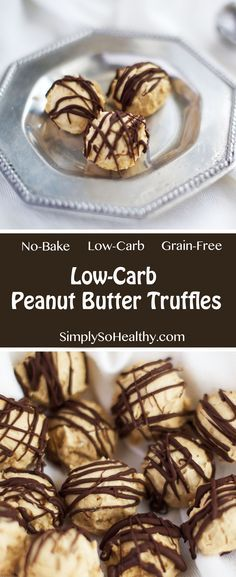 Low-Carb Peanut Butter Truffles- A simple and fast recipe to make delicious low-carb and sugar-free peanut butter truffles. These truffles are incredible tasty and a huge crowd pleaser.