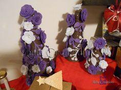 bottiglie decorate di viola - Cerca con Google