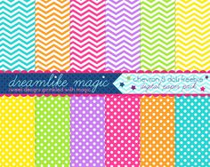 Free digital paper and clipart! Love the Chevron!