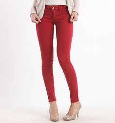 I've always wanted colored jeggings either in blue or red.