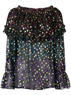 Black Silk Blouse, Party Tops, Blouse Designs, Off The Shoulder, Yves Saint Laurent, Women Wear, Boutique, Model, How To Wear