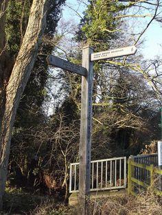 Chinn Brook Nature Reserve - fingerpost