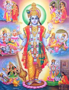 "In the Yajurveda, Taittiryia Aranyaka, Narayana sukta, Lord Narayana is mentioned as the supreme being. The first verse of Narayana sukta mentions the words ""paramam padam"" which l Shiva Parvati Images, Lakshmi Images, Lord Krishna Images, Radha Krishna Pictures, Hanuman Images, Arte Krishna, Krishna Hindu, Hindu Deities, Durga Puja"