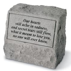 Design Toscano Our Hearts Still Ache in Sadness Cast Stone (Grey) Pet Memorial Statue Pet Headstones, Cemetery Headstones, Bff, Pet Memorial Stones, Memorial Ideas, Memorial Gifts, Beautiful Verses, Grieving Quotes, Short Poems