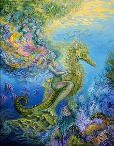 Sea Witch:  #Sea #Witch ~ Side Saddle, by Josephine Wall.