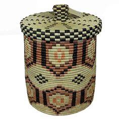 Burundi Canister Basket Medium Burke Museum, African Nations, Natural Background, Sisal, Canisters, Objects, Artisan, Handmade Items, Basket