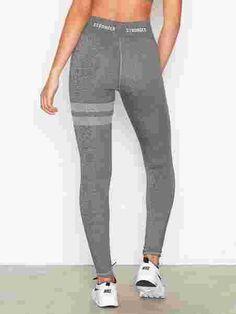 Buddha - Stronger - Grå - Tights & Bukser - Sportsklær - Kvinne - Nelly.com Buddha, Tights, Sweatpants, Fitness, Fashion, Navy Tights, Moda, La Mode, Sweat Pants