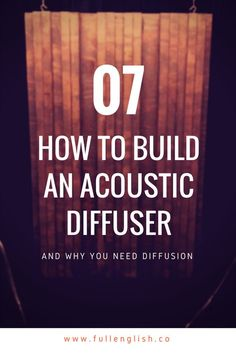 How to Build an Acoustic Diffuser — Full English Post Music Studio Room, Audio Studio, Music Rooms, Sound Studio, Acoustic Diffuser, Home Recording Studio Setup, Studio Soundproofing, Diffuser Diy, Acoustic Panels