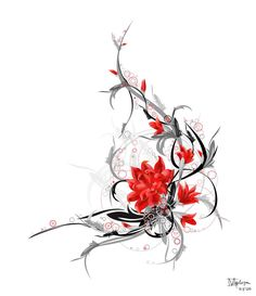 lotus flower tattoo designs | Fire Flower Tattoo Picture By Samichynn27 Photobucket