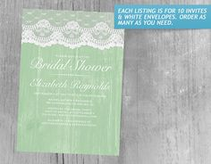 Green Rustic Lace