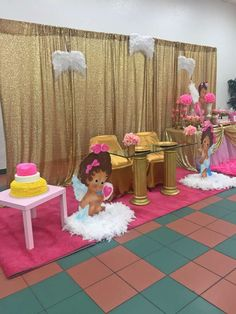 Arianna's Angel Princess theme Babyshower  | CatchMyParty.com