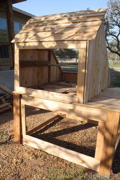 Saltbox Chicken Coop, Run, and Planter