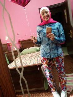 A look by Lelyan Al-braisa  Summer looks (hijab fashion)
