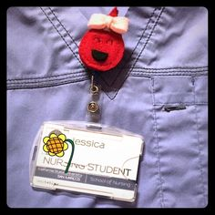 Handmade ID Badge Clip for Medical Personnel Handmade felt blood drop id badge clip for nurses and other medical staff personnel. New and unused. Accessories Key & Card Holders