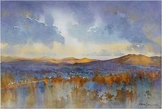 Near Joshua Tree by Thomas W. Schaller Watercolor ~ 18 inches x 24 inches