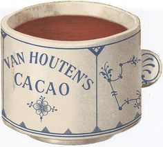 VAN HOUTEN Cacao Trade Card Vintage Tins, Vintage Labels, Vintage Ephemera, Vintage Cards, Vintage Images, Typical Dutch Food, Van Houtens, Tattoo Photography, Dutch Recipes