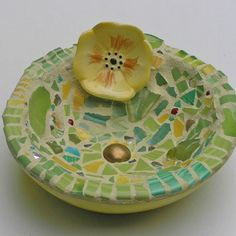 I <3 this little bowl at Pique Assiette Mosaic by Melissa Miller
